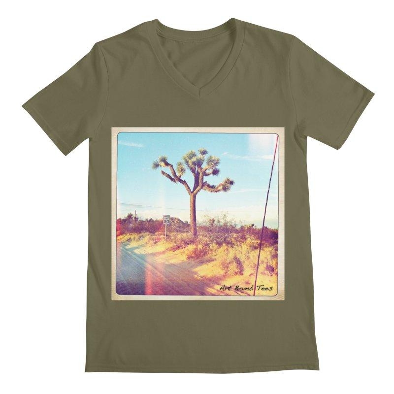 Desert Roads Men's V-Neck by artbombtees's Artist Shop