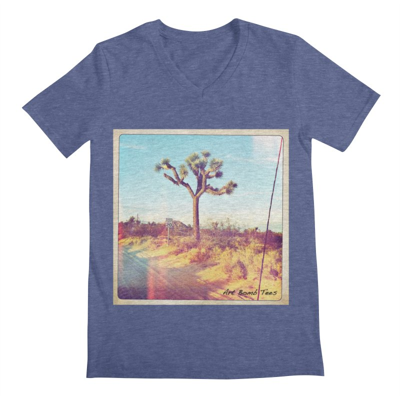 Desert Roads Men's Regular V-Neck by artbombtees's Artist Shop