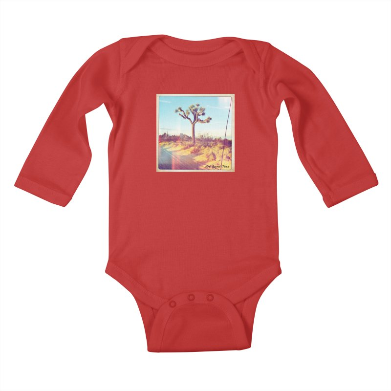 Desert Roads Kids Baby Longsleeve Bodysuit by artbombtees's Artist Shop