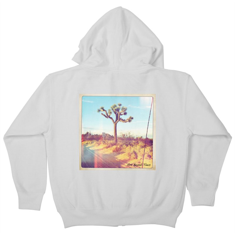 Desert Roads Kids Zip-Up Hoody by artbombtees's Artist Shop