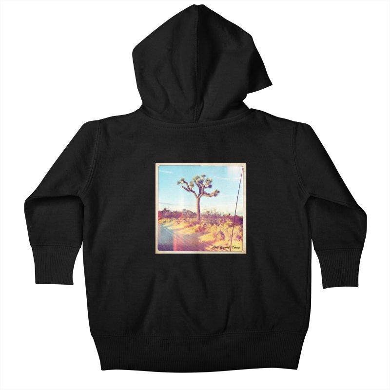 Desert Roads Kids Baby Zip-Up Hoody by artbombtees's Artist Shop