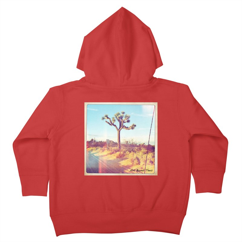 Desert Roads Kids Toddler Zip-Up Hoody by artbombtees's Artist Shop