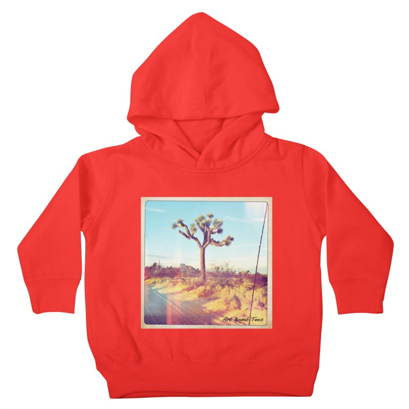Desert Roads Kids Toddler Pullover Hoody by artbombtees's Artist Shop