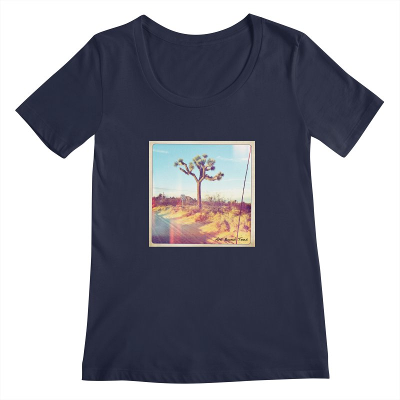 Desert Roads Women's Scoopneck by artbombtees's Artist Shop