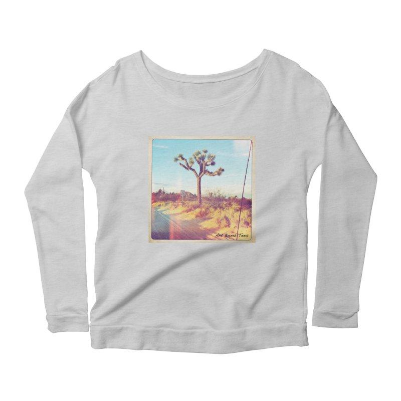 Desert Roads Women's Scoop Neck Longsleeve T-Shirt by artbombtees's Artist Shop