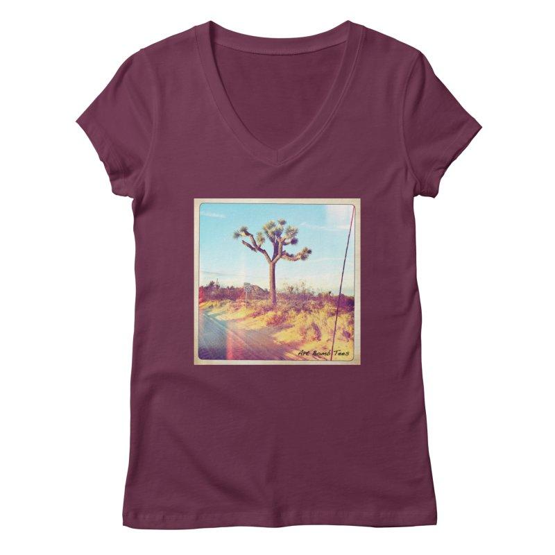 Desert Roads Women's V-Neck by artbombtees's Artist Shop