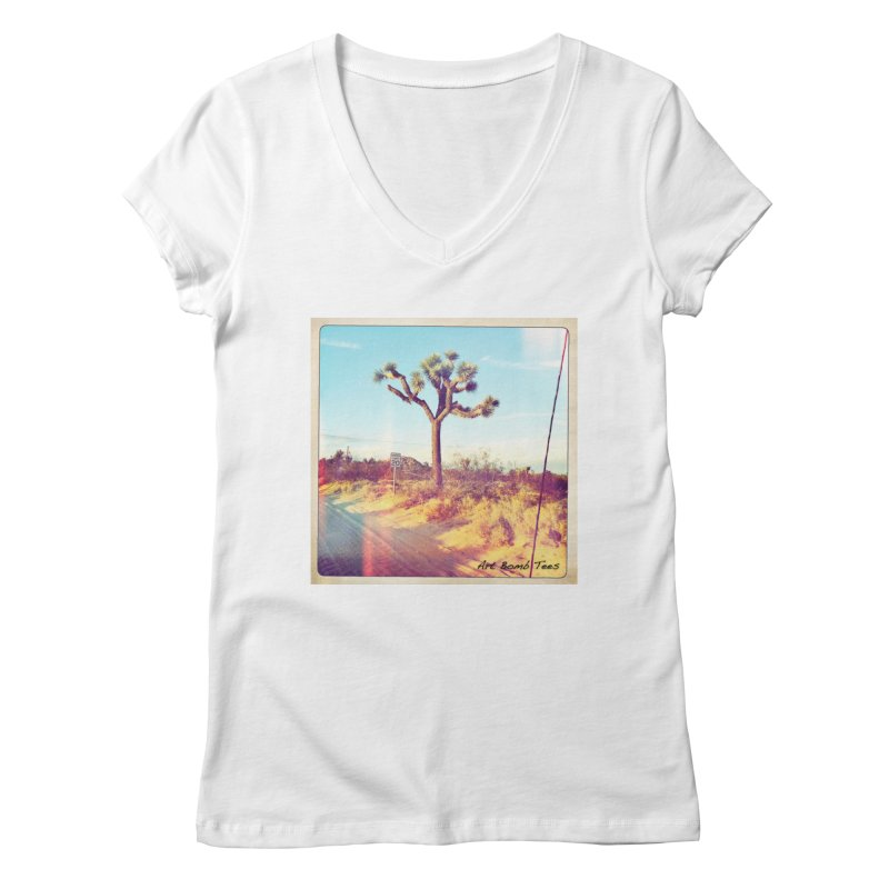 Desert Roads Women's V-Neck by artbombtees's Artist Shop