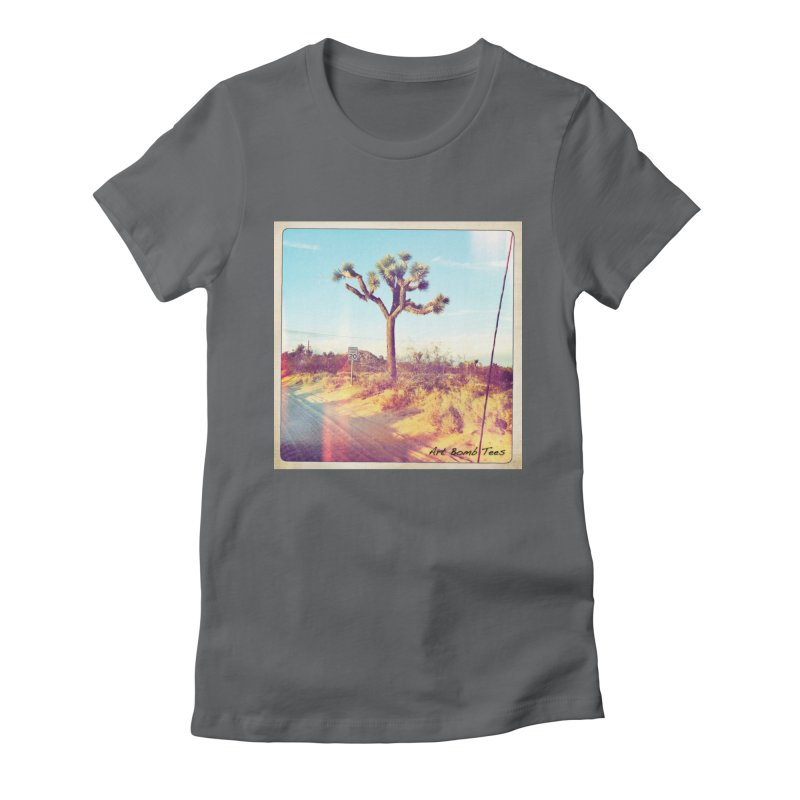 Desert Roads Women's Fitted T-Shirt by artbombtees's Artist Shop