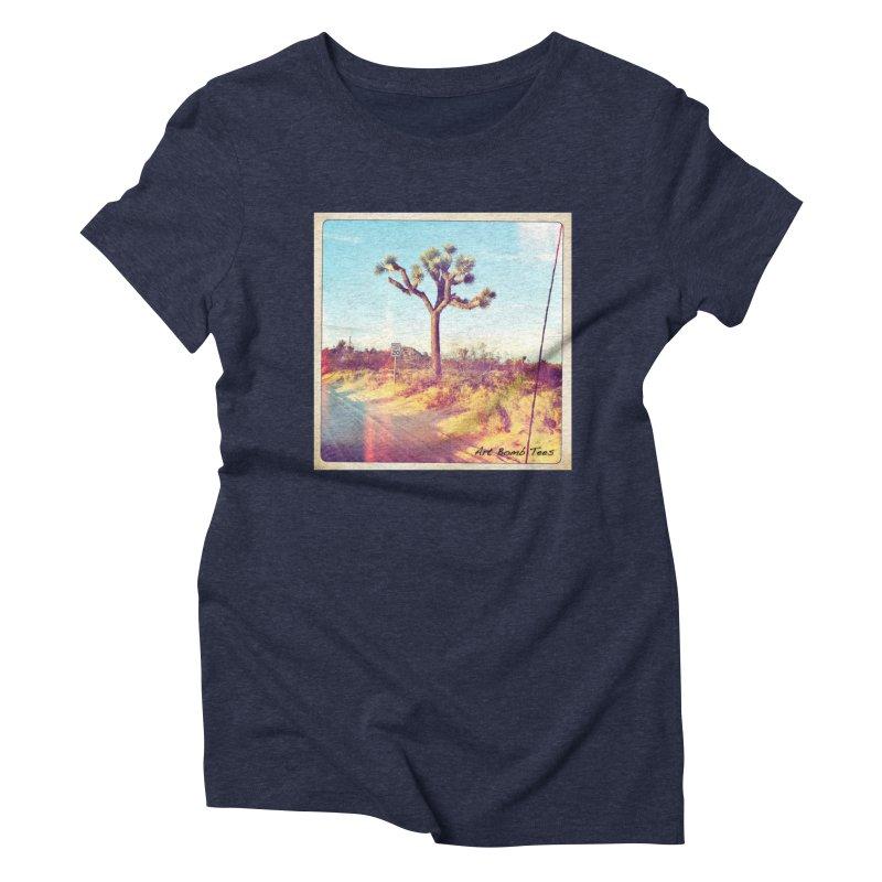 Desert Roads Women's Triblend T-Shirt by artbombtees's Artist Shop