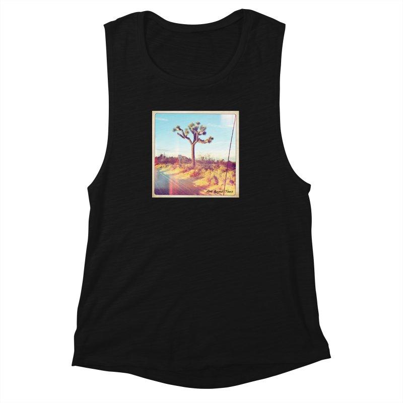 Desert Roads Women's Muscle Tank by artbombtees's Artist Shop