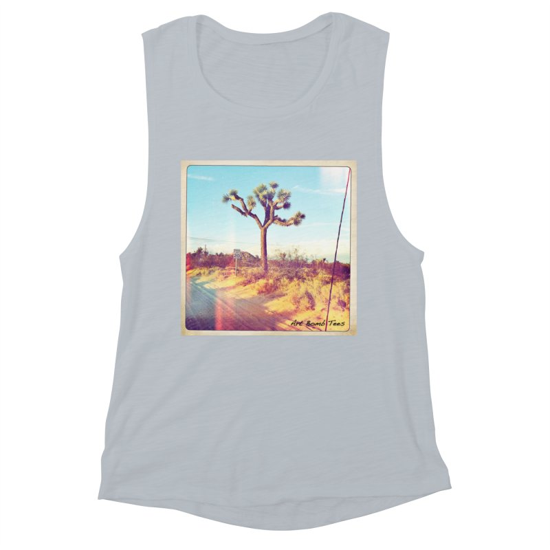 Desert Roads Women's Muscle Tank by artbombtees's Artist Shop