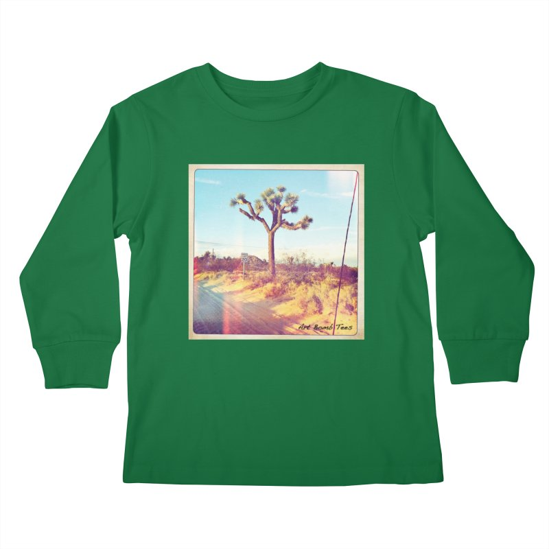 Desert Roads Kids Longsleeve T-Shirt by artbombtees's Artist Shop