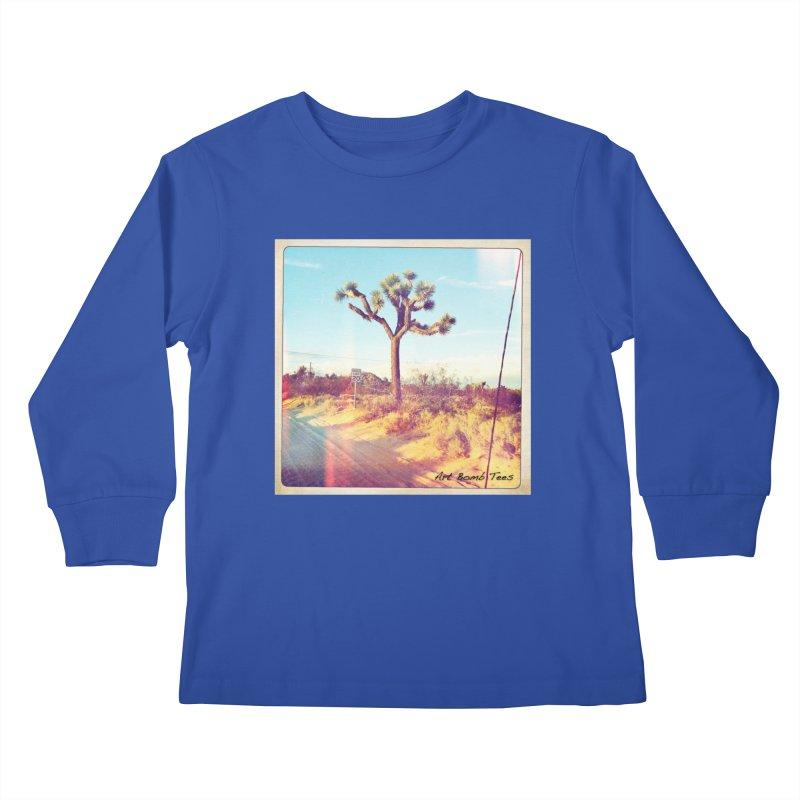 Desert Roads Kids Longsleeve T-Shirt by artbombtees's Artist Shop