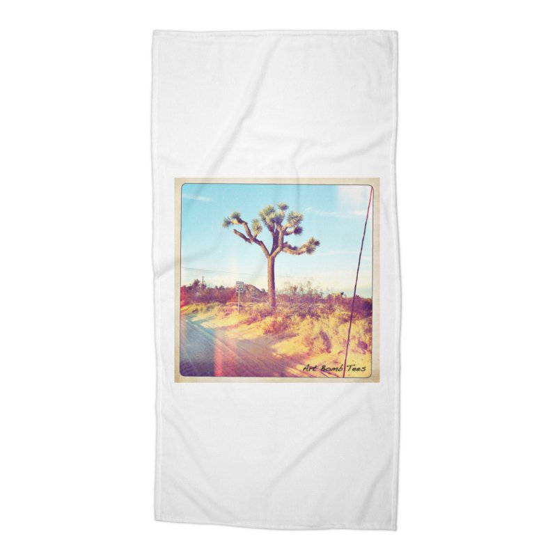 Desert Roads Accessories Beach Towel by artbombtees's Artist Shop
