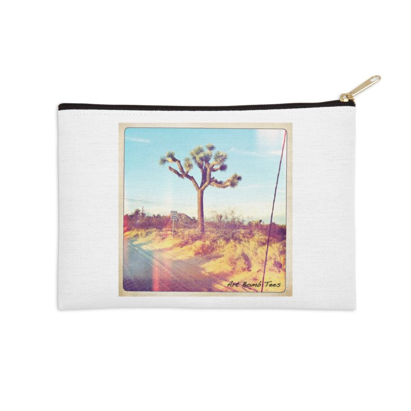 Desert Roads Accessories Zip Pouch by artbombtees's Artist Shop