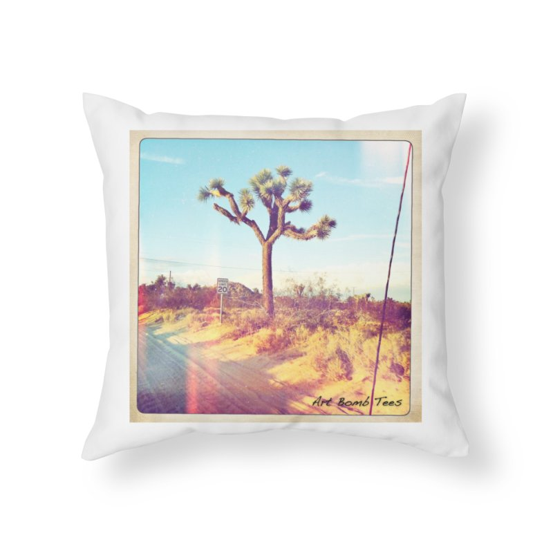 Desert Roads Home Throw Pillow by artbombtees's Artist Shop