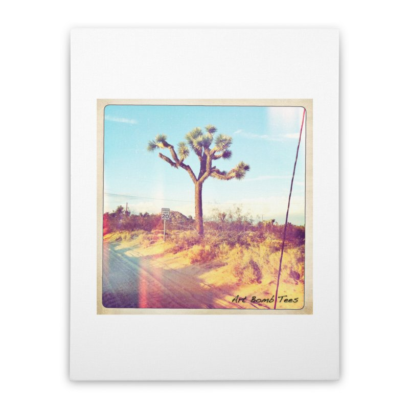 Desert Roads Home Stretched Canvas by artbombtees's Artist Shop