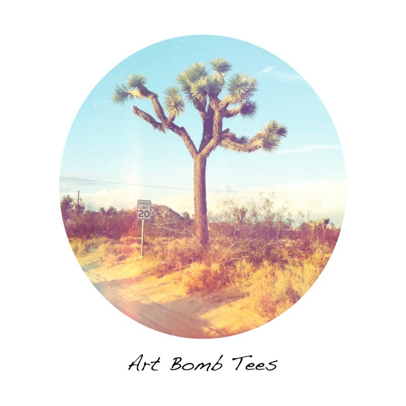 Desert Roads - Circular Accessories Bag by artbombtees's Artist Shop