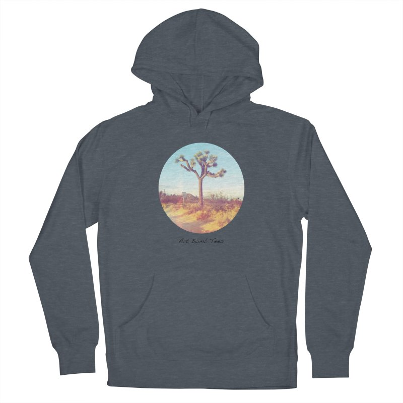 Desert Roads - Circular Men's French Terry Pullover Hoody by artbombtees's Artist Shop