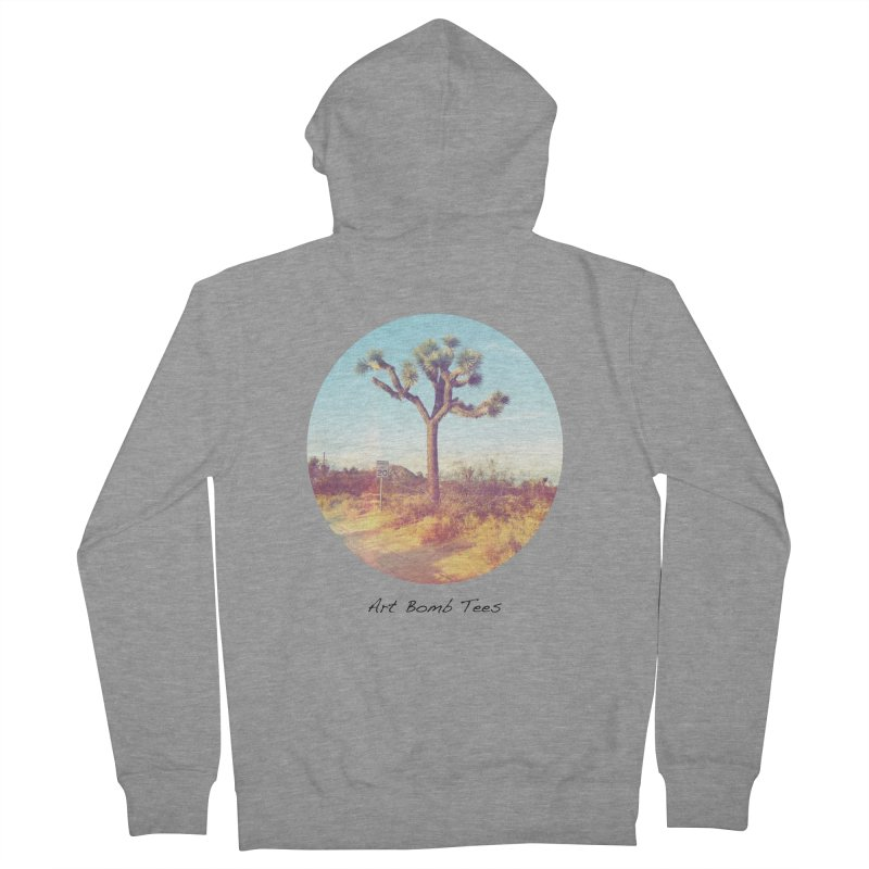 Desert Roads - Circular Men's French Terry Zip-Up Hoody by artbombtees's Artist Shop
