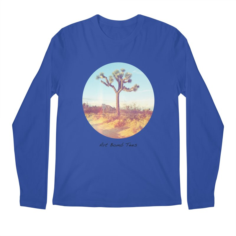 Desert Roads - Circular Men's Regular Longsleeve T-Shirt by artbombtees's Artist Shop