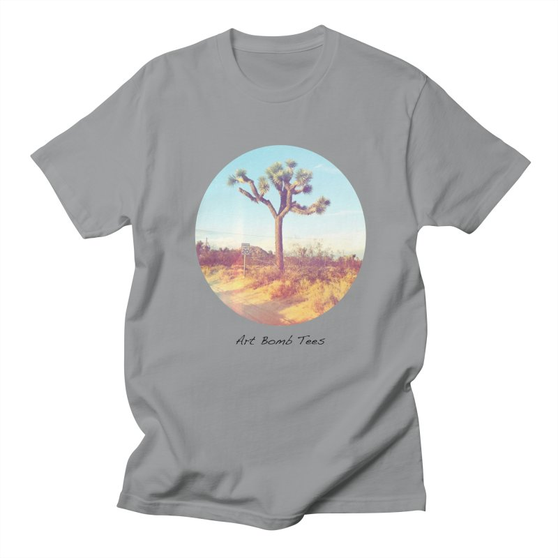 Desert Roads - Circular Men's Regular T-Shirt by artbombtees's Artist Shop