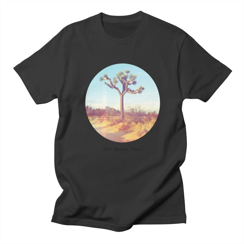 Desert Roads - Circular Men's T-Shirt by artbombtees's Artist Shop