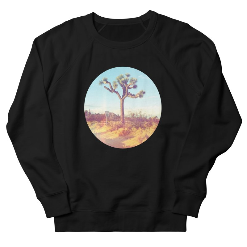 Desert Roads - Circular Men's French Terry Sweatshirt by artbombtees's Artist Shop