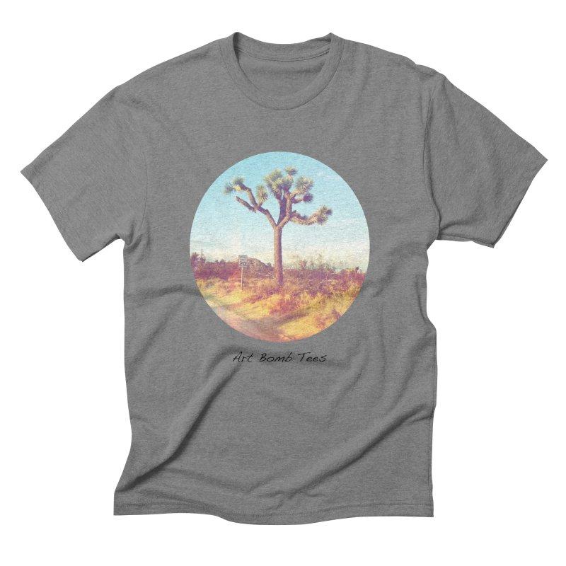 Desert Roads - Circular Men's Triblend T-Shirt by artbombtees's Artist Shop