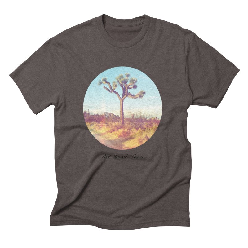 Desert Roads - Circular Men's Triblend T-Shirt by artbombtees's Artist Shop
