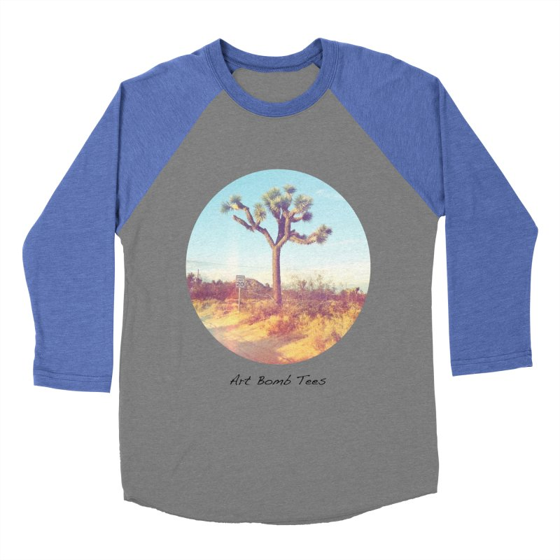 Desert Roads - Circular Women's Baseball Triblend Longsleeve T-Shirt by artbombtees's Artist Shop