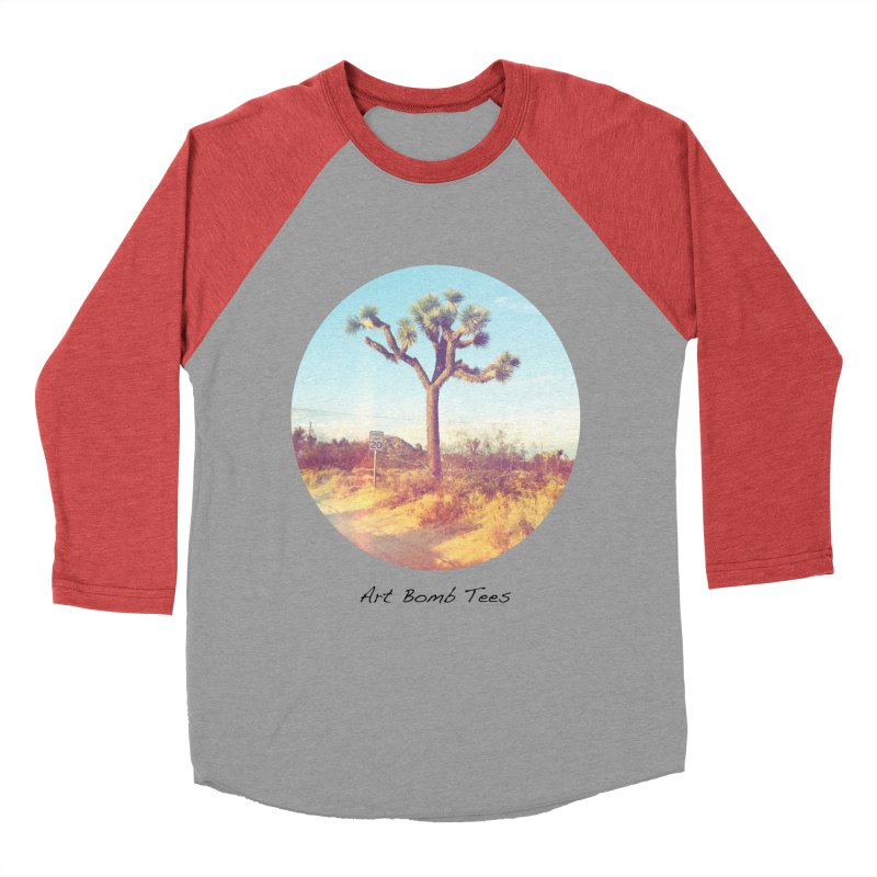 Desert Roads - Circular Men's Baseball Triblend Longsleeve T-Shirt by artbombtees's Artist Shop