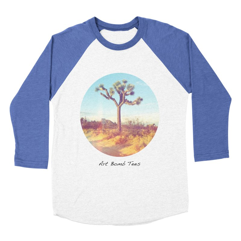 Desert Roads - Circular Men's Baseball Triblend T-Shirt by artbombtees's Artist Shop
