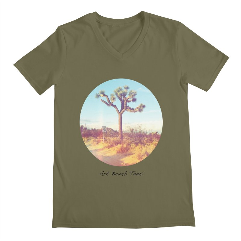 Desert Roads - Circular Men's V-Neck by artbombtees's Artist Shop