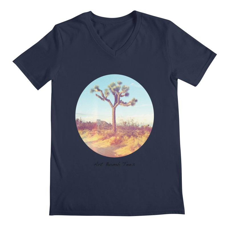 Desert Roads - Circular Men's Regular V-Neck by artbombtees's Artist Shop
