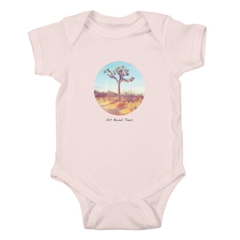Desert Roads - Circular Kids Baby Bodysuit by artbombtees's Artist Shop