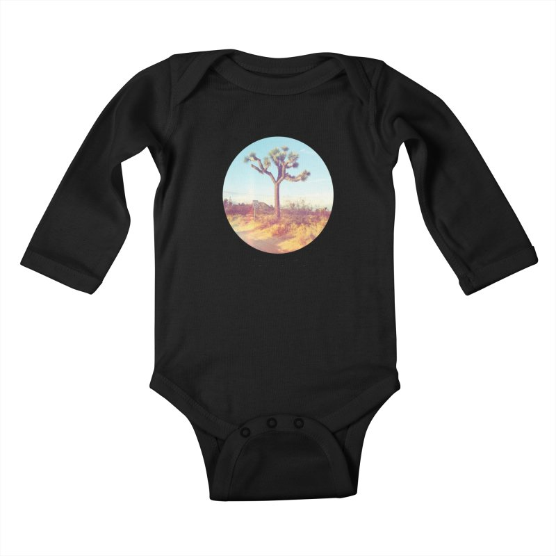 Desert Roads - Circular Kids Baby Longsleeve Bodysuit by artbombtees's Artist Shop