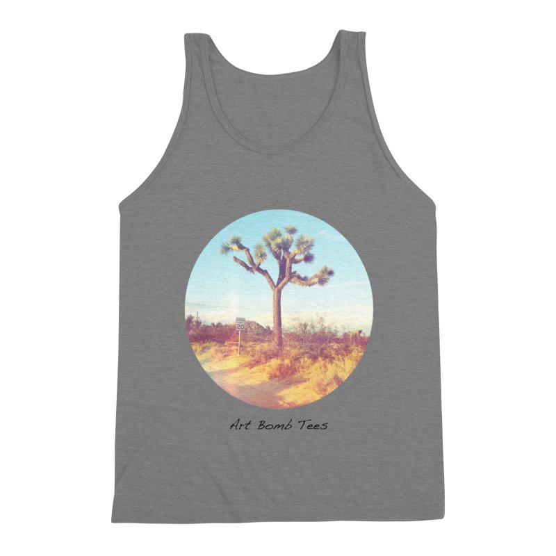 Desert Roads - Circular Men's Triblend Tank by artbombtees's Artist Shop