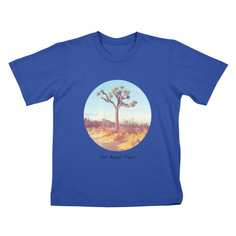 Desert Roads - Circular Kids T-Shirt by artbombtees's Artist Shop