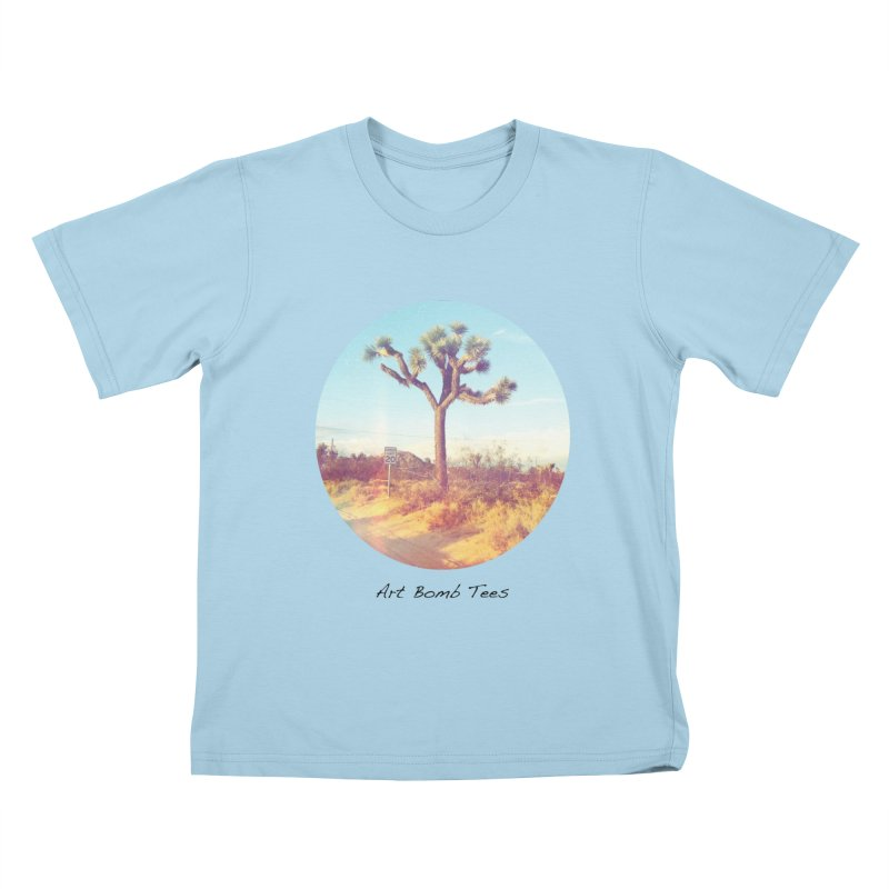 Desert Roads - Circular Kids T-Shirt by artbombtees's Artist Shop