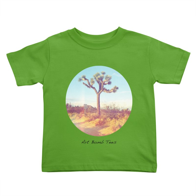 Desert Roads - Circular Kids Toddler T-Shirt by artbombtees's Artist Shop