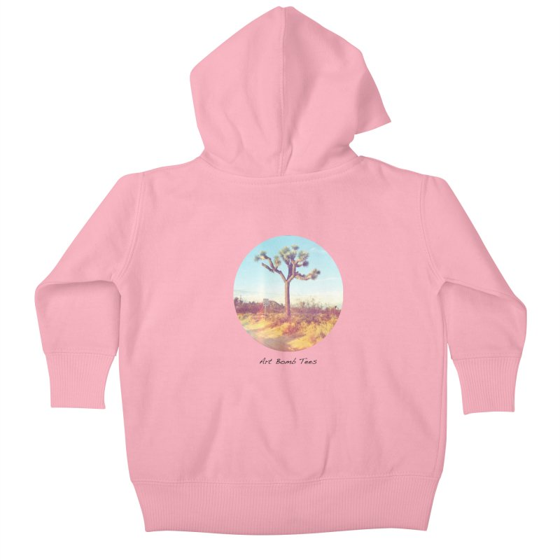 Desert Roads - Circular Kids Baby Zip-Up Hoody by artbombtees's Artist Shop