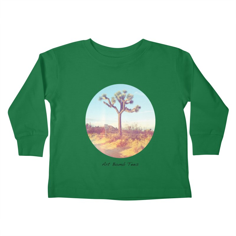 Desert Roads - Circular Kids Toddler Longsleeve T-Shirt by artbombtees's Artist Shop