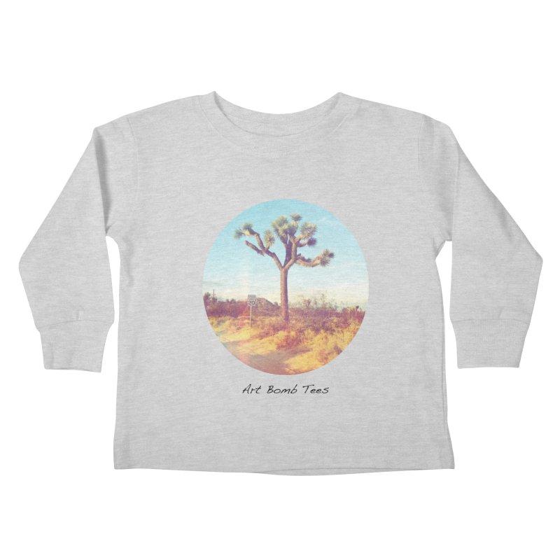 Desert Roads - Circular Kids Toddler Longsleeve T-Shirt by artbombtees's Artist Shop