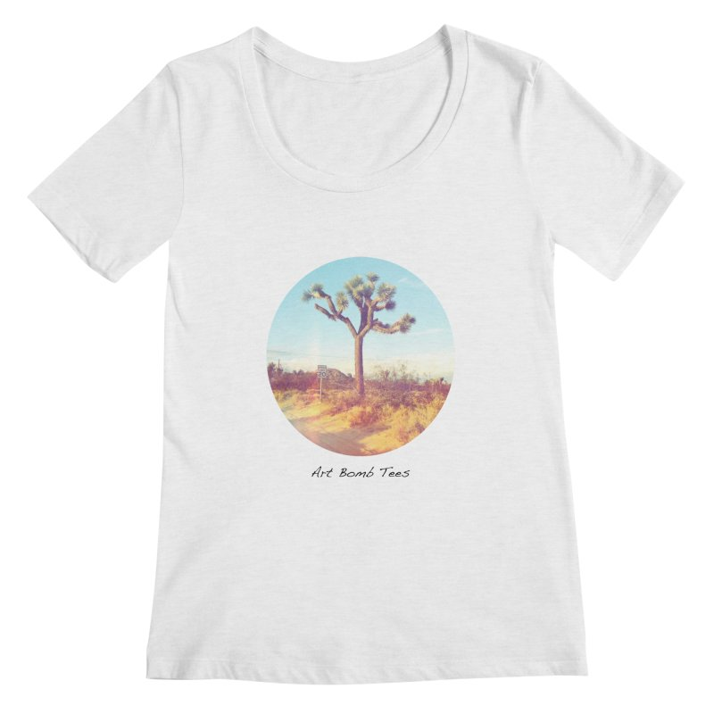 Desert Roads - Circular Women's Regular Scoop Neck by artbombtees's Artist Shop