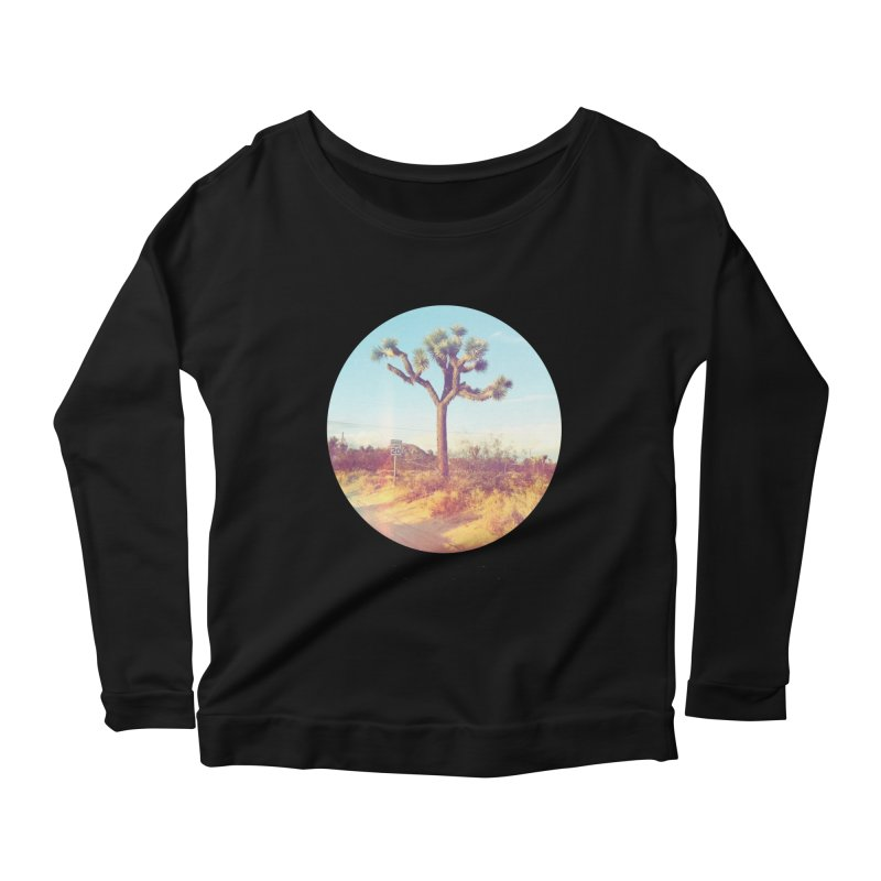 Desert Roads - Circular Women's Scoop Neck Longsleeve T-Shirt by artbombtees's Artist Shop