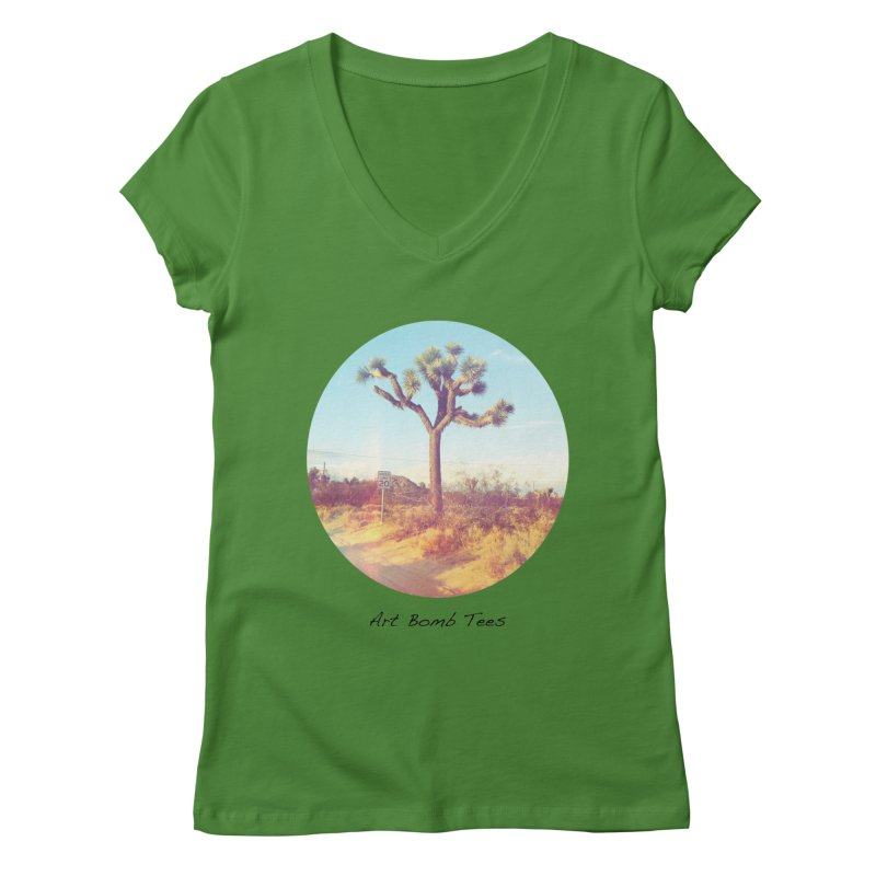 Desert Roads - Circular Women's V-Neck by artbombtees's Artist Shop