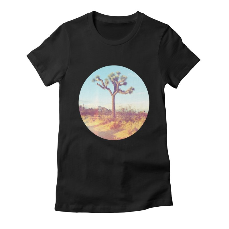 Desert Roads - Circular Women's Fitted T-Shirt by artbombtees's Artist Shop