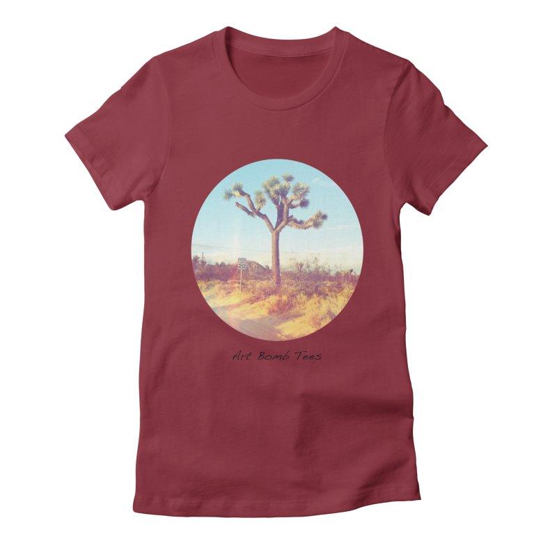 Desert Roads - Circular Women's Fitted T-Shirt by artbombtees's Artist Shop