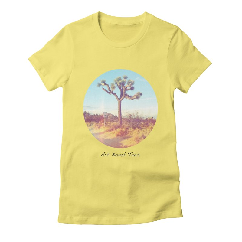 Desert Roads - Circular Women's T-Shirt by artbombtees's Artist Shop